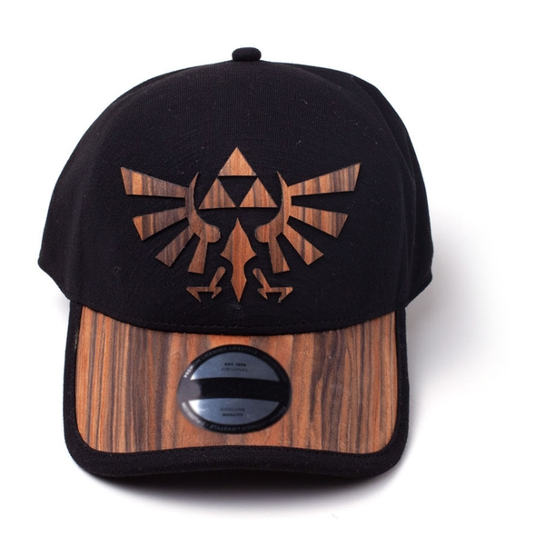 Nintendo - Royal Crest Unisex Seamless Snapback Baseball Cap - Black/Wood