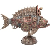 Piston Powered Piranha Steampunk Figurine