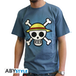 One Piece - Skull With Map Men's X-Large T-Shirt - Blue - Image 2