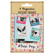 Set of 4 Fiesta Fun Magnetic Picture Frames