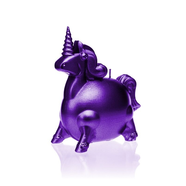 Violet Metallic Unicorn Candle