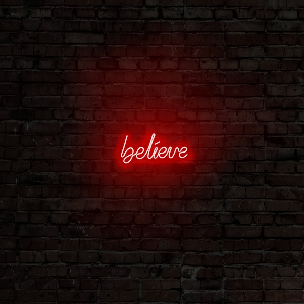 Believe - Red Red Wall Lamp