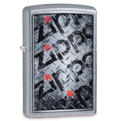Zippo Diamond Pladte Chrome Regular Windproof Lighter