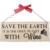 Save the Earth Hanging Sign