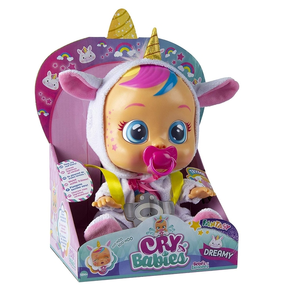 Cry Babies Fantasy Dreamy Unicorn Interactive Doll