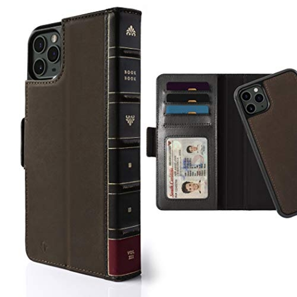 Twelve South BookBook for iPhone 11 Pro Max |3-in-1 Leather Wallet Case with Display Stand and Removable Magnetic Shell (brown)