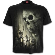 Waxed Skull Women's Medium T-Shirt - Black