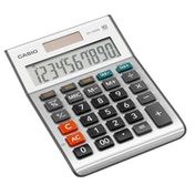 Casio MS100BM-S 10 Digit Desk Calculator with Tax Calculations