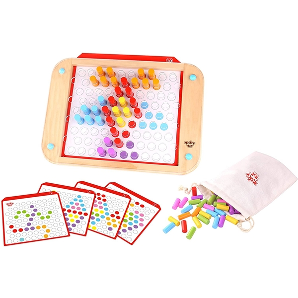 Wooden Pattern Pegs Activity Toy