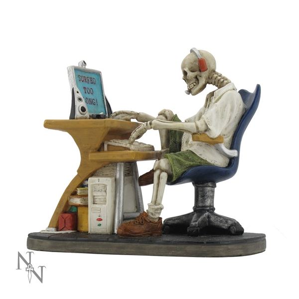Surfed Too Long Skeleton Figurine