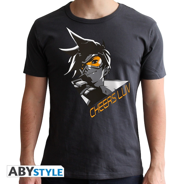 Overwatch - Tracer Men's Small T-Shirt - Grey