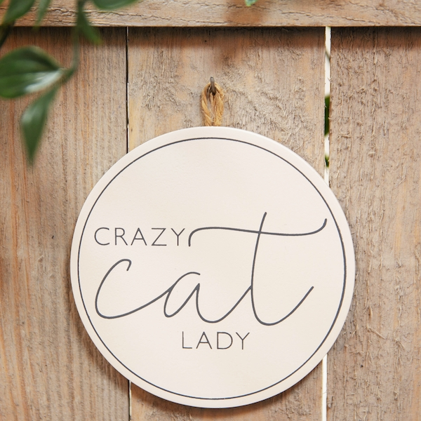 Best of Breed Wooden Plaque - Crazy Cat Lady
