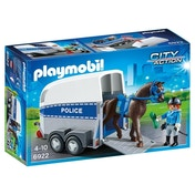 Ex-Display Playmobil City Action Police with Horse and Trailer Used - Like New