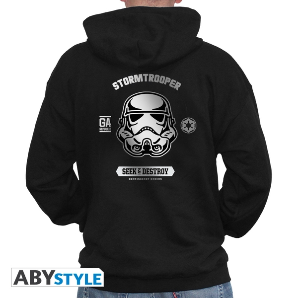 Star Wars - Trooper Men's Large Hoodie - Black