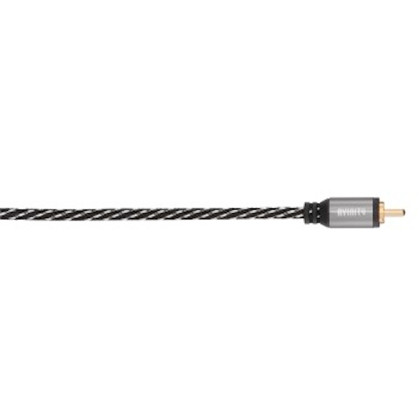 Avinity Digital RCA Cable, 1 plug - 1 plug, fabric, gold-plated, 5.0 m