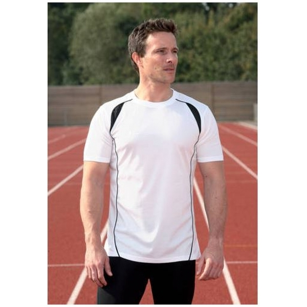 PT S/S Running Shirt White/Black 46-48 inch