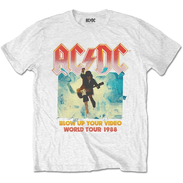 AC/DC - Blow Up Your Video Unisex Small T-Shirt - White