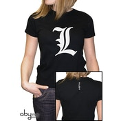 Death Note - L Tribute Women's X-Large T-Shirt - Black