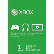 Xbox Live Gold 1 Months Membership Card Xbox 360 and Xbox One Digital Download