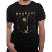 Bauhaus - Gold Spirit Logo Men's Small T-Shirt - Black