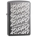 Zippo Script Black Ice Finish Windproof Lighter