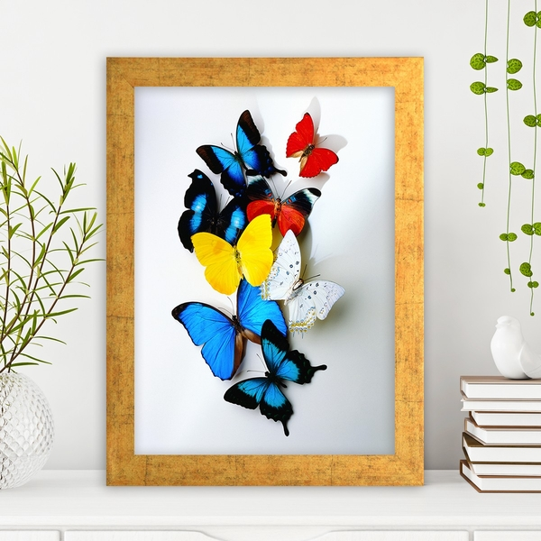 AC22312036 Multicolor Decorative Framed MDF Painting