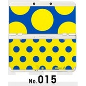 New Nintendo 3DS Cover Plates No 015 Blue & Yellow Polkadot Faceplate