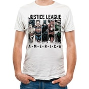 Justice League Comics - America Men's Small T-Shirt - White