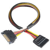 Akasa SATA Power Cable Extension, Male to Female, 30cm