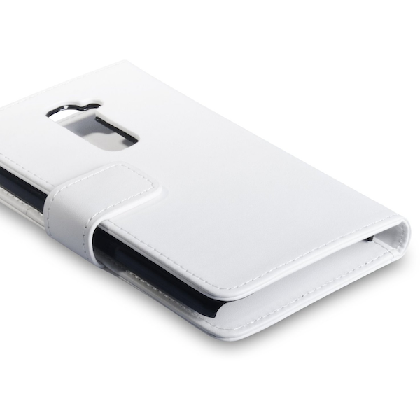 YouSave Accessories LG G2 Leather-Effect Wallet Case - White