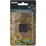 WizKids Deep Cuts Unpainted Miniatures: Black 25mm Round Base 15 ct.