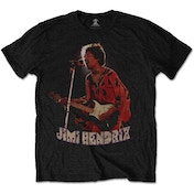 Jimi Hendrix - Orange Kaftan Men's X-Large T-Shirt - Black