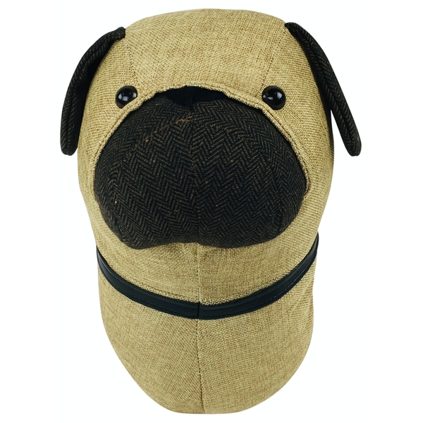 Fabric Wall Mounted Pug Head | 30cm