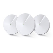 TP-LINK (DECO M5) Whole-Home Mesh Wi-Fi System, 3 Pack, Dual Band AC1300, MU-MIMO, USB Type-C, 2 x LAN on each Unit UK Plug