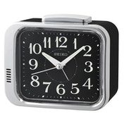 Seiko QHK049A Bell Alarm Clock Black with Black Dial