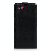 Caseflex Sony Xperia Z1 Compact Real Leather Flip Case - Black