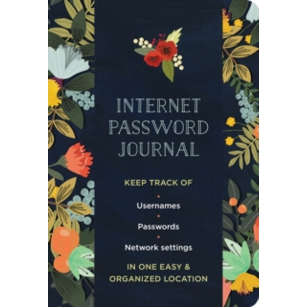 Internet Password Logbook Modern Floral by Rock Point (Paperback, 2017)