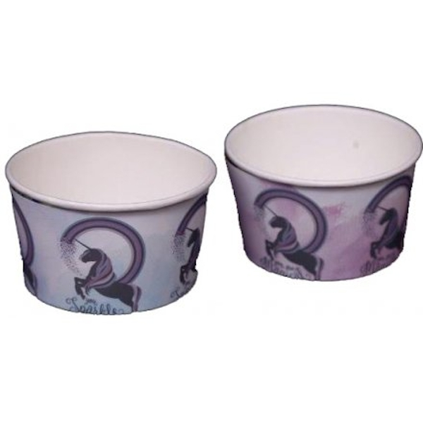 12 Unicorn Paper Bowls (1 Colour Supplied)
