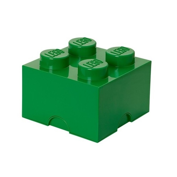 LEGO 4-Plug Storage Green Brick Toy