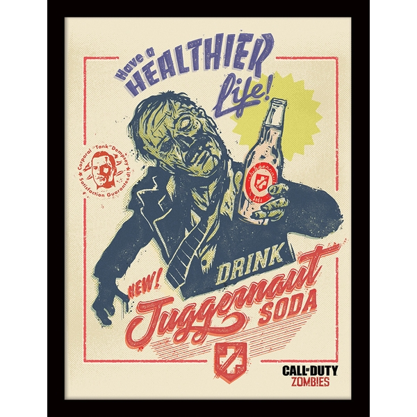 Call of Duty - Zombie Soda Framed 30 x 40cm Print