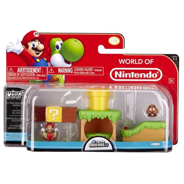 Flying Squirrel Mario Acorn Plains (Super Mario Bros) Microland Action Figure