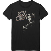 Roy Orbison - Guitar & Logo Men's Large T-Shirt - Black