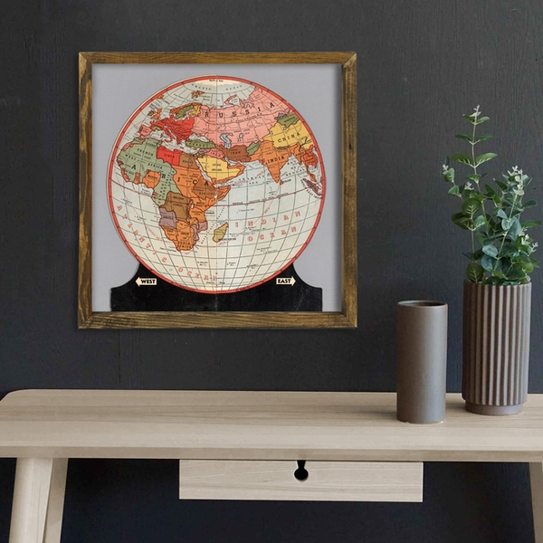 Map091 Multicolor Decorative Framed MDF Painting