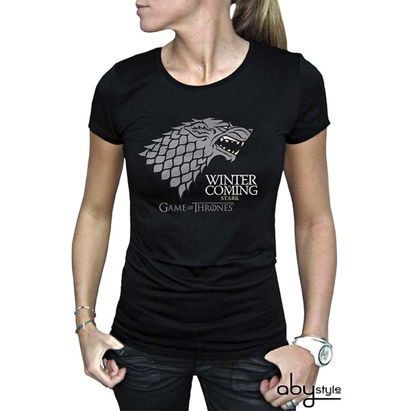 Game Of Thrones - Winter Is Coming Women's Large T-Shirt - Black