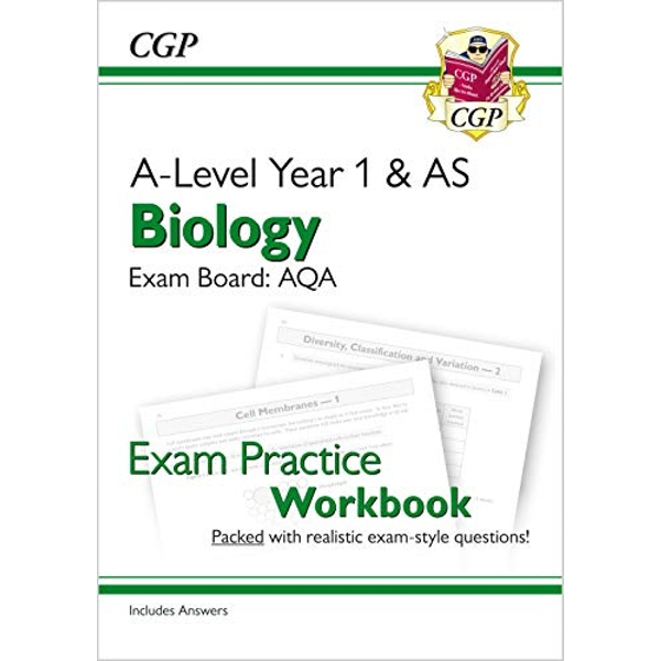 New A-Level Biology: AQA Year 1 & AS Exam Practice Workbook - includes Answers  Paperback / softback 2018