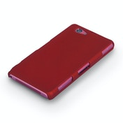 8881bddf47d2 YouSave Accessories Sony Xperia Z1 Compact Hard Hybrid Case - Red