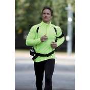 Precision L/S (Turtle) Running Shirt Adult Fluo Yellow/Black - Medium