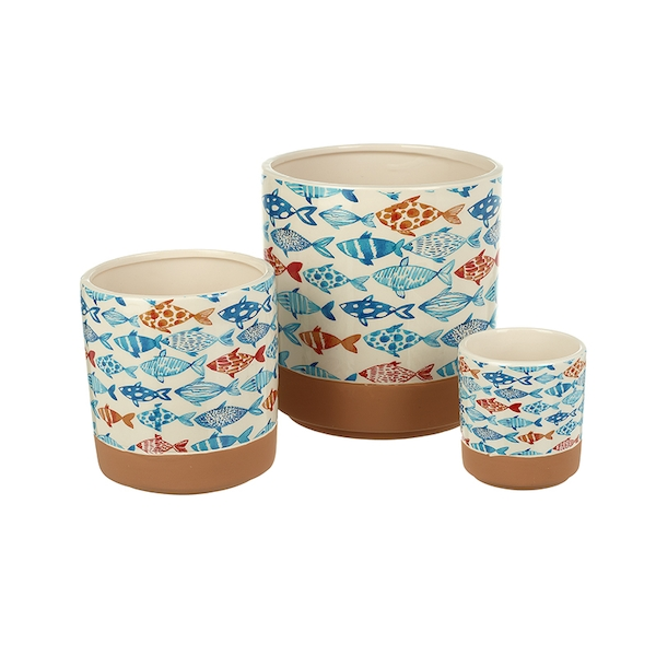 Ceramic Fish Planters Set of 3 By Heaven Sends