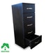5 Chest Of Drawers Black Bedside Cabinet Dressing Table Bedroom Furniture Wooden Green House - Image 2