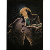Small Wolf Song Canvas Picture by Lisa Parker